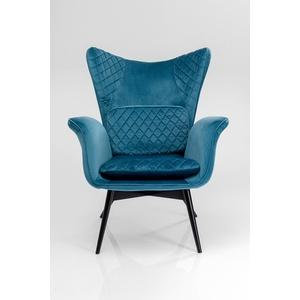 Kare Design Sessel Tudor Velvet Petrol