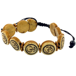 Guru-Shop Armreif Buddhistisches Armband OM - braun Modell 9