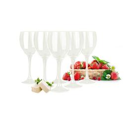 Sendez Weißweinglas 6 weiße Weingläser 300ml Rotweingläser Weißweingläser Weinkelch Gläser, Glas