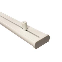 Gardinenschiene Alu 3-läufig weiß mit Deckenträger (Länge 240 cm (2 x 120 cm))