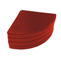 Weichbodenmatte rund - rot - 120 x 10 cm
