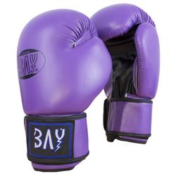 BAY-Sports Boxhandschuhe Future Box-Handschuhe lila Boxen Kickboxen 8 Unzen