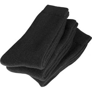 normani 3 Paar Original Polar Husky Socken/Skisocken mit Schafwolle/sehr warm/waschmaschienenfest Farbe Schwarz Größe 47/50