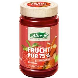 Allos Frucht Pur 75% Erdbeere-Rhabarber bio