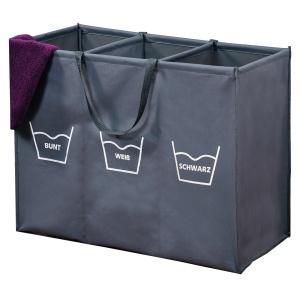 Kesper Wäschesortierer, Faltbare Wäschebox mit beidseitigen Aufdruck, Maße (H x B x T): 60 x 74 x 36 mm