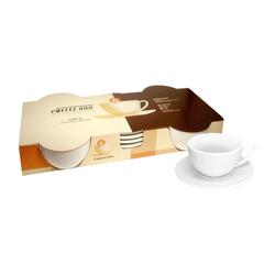 Könitz Cappuccinotasse Coffee Bar Cappuccino Set 8-tlg., Porzellan