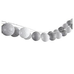 Vicco LED-Lichterkette Lichterkette Cotton Balls Girlande weiß und grau 310 cm
