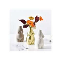 Gotui Tischvase, Keramischer Blumentopf Kreative Körperform Vase natur