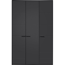Loddenkemper Drehtürenschrank Malibu 3 türig grau 152 cm x 222,9 cm x 59,5 cm