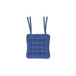 BUTLERS Sitzkissen SOLID blau