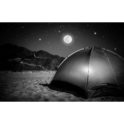 Bilderdepot24 Deco-Panel, selbstklebende Fototapete - Camping bei Nacht bunt 230 cm x 150 cm