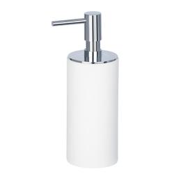 WENKO Ida Seifenspender, 140 ml, Nachfüllbarer Pumpspender für die portionierte Abgabe von Flüssigseife, Farbe: Weiß