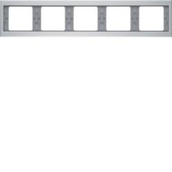 Berker 13937003 ,Rahmen 5fach waag K.5 Alu