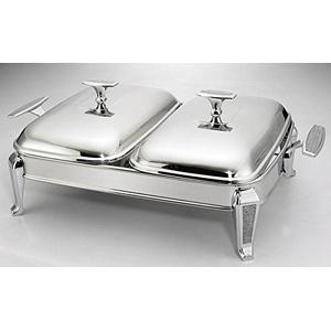 Chafing Dish mit 2 Behälter 5 tlg Speisewärmer Dishes Wärmebehälter für Haushalt
