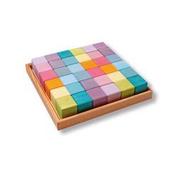 GRIMM´S Spiel und Holz Design Lernspielzeug, Legespiel und Bauklötze Pastell im Rahmen