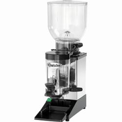 Space II Kaffeemühle, Elektrische Mahlmaschine aus Edelstahl für bis zu 2 kg Kaffeebohnen, Auffangbehälter für bis zu 600 g Kaffeemehl
