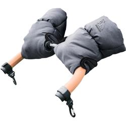 Heitmann Felle Kinderwagen-Handwärmer Eisbärchen, Handmuff für den Kinderwagen, praktische Druckknöpfe zur Befestigung, warm und weich grau