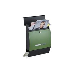 relaxdays Briefkasten Design Briefkasten mit Zeitungsfach