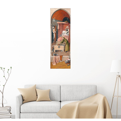 Posterlounge Wandbild, der Tod des Geizhalses 30 cm x 90 cm