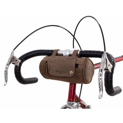 Gusti Leder Lenkertasche Judith A., Fahrrad Lenkertasche Gepäckträgertasche Fahrradschloss Tasche Fahrradtsache Ledertasche Vintage Braun Leder