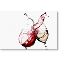 Herd-Abdeckplatte Spritzschutz Küche Weingläser, Glas, (1 tlg)