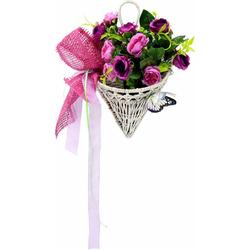 Kunstpflanze Rosen mit Schmetterling im Korb 30 cm Rosen, I.GE.A., Höhe 30 cm
