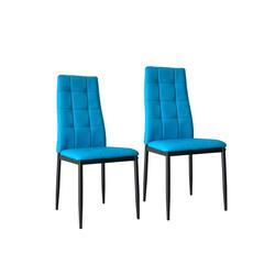 HTI-Line Esszimmerstuhl Stuhl Memphis 2er Set (2 Stück) blau