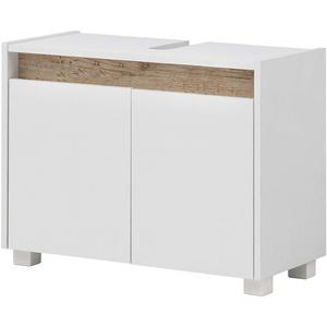 Schildmeyer Cosmo Waschbeckenunterschrank 148463, Holzwerkstoff, weiß, 80 x 54,5 x 33 cm (BxHxT)