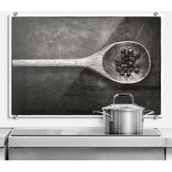 Küchenrückwand Spritzschutz Kochlöffel Küche, (1-tlg) 100 cm x 70 cm x 0,4 cm
