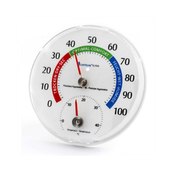Lantelme Raumthermometer Hygrometer mit Thermometer, 1-tlg., analog, 100% rel. bis 45 Grad Celsius