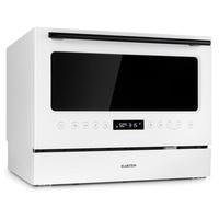 Klarstein Azuria Geschirrspülmaschine EEK A+ 1380W 6,5L 6 Gedecke schwarzer Glasfront weiß