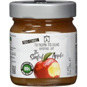 To Filema Tis Lelas Handgemachte Apfel Marmelade OHNE ZUCKERZUERSATZ - The Sinful Apple 240 g, 2er Pack