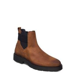 Tommy Hilfiger Elastic Hilfiger Suede Chelsea Shoes Chelsea Boots Braun TOMMY HILFIGER Braun 41,42,43,44,45