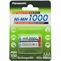 AccuCell Panasonic HR-4U Micro AAA Akku NiMH 1,2 Volt 1000mAh 2er Blister und AccuSafe, auch passend für Gigaset A420 A...