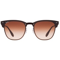 Ray Ban Blaze Clubmaster RB3576N gunmetal / brown gradient