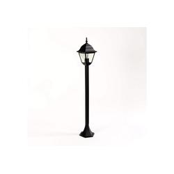 Licht-Erlebnisse Außen-Stehlampe ROM Stehlampe Schwarz außen Laterne rustikal Garten Wegeleuchte Hof Lampe