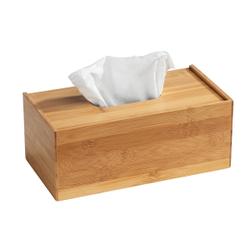 WENKO Terra Bambus Kosmetiktuch-Box, Spender-Box zur griffbereiten Aufbewahrung von Kosmetiktücher, Maße (B x H x T): 25 x 13 x 10 cm