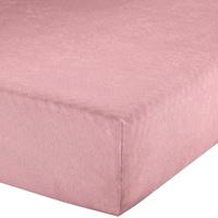 Erwin Müller Spannbettlaken Augsburg Frottee-Stretch rosé Größe 90x190 cm - 100x200 cm
