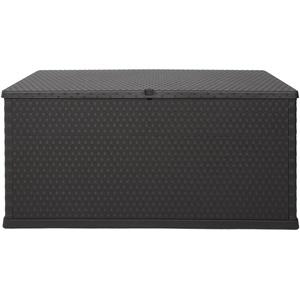 Ondis24 Kissenbox Auflagenbox Rattan Terrassenbox anthrazit