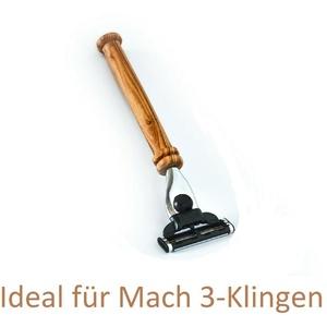 """Nassrasierer Herren Olivenholz """"K2-M3"""", Rasierhobel Nass Rasierer Herrenrasierer"""