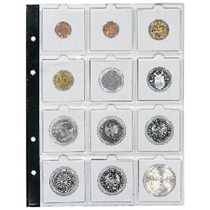 5 x SAFE Nr. 7855 Münzhüllen - Ergänzungsblätter Coin Compact - für Münzrähmchen KLEIN 50x50 mm je Blatt PLatz für 12 Rähmchen / Coinholder - EXTRA starke Folie und verstärkte Lochung - für SAFE Münzalbum 7890 & 7385 Artline
