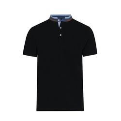 Lavard Schwarzes Herren-Poloshirt mit Stehkragen 72892