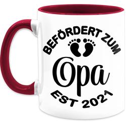 Shirtracer Tasse Befördert zum Opa 2021 - schwarz - Tasse für Opa - Tasse zweifarbig, Keramik
