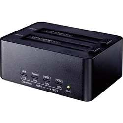 Renkforce USB 3.0 SATA Festplatten-Dockingstation mit Clone- und Erase-Funktion SSD (4000)