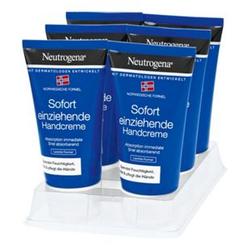 Neutrogena Sofort Einziehende Handcreme 75 ml, 6er Pack