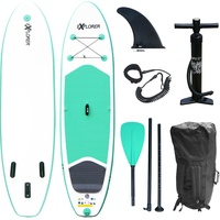 EXPLORER SUP Board Set Stand Up Paddle aufblasbar Surfboard Paddling ISUP