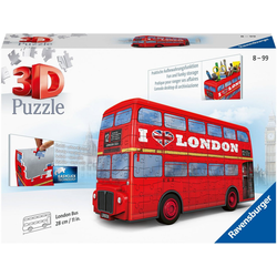 Ravensburger 3D-Puzzle London Bus, 216 Puzzleteile, Made in Europe