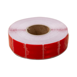 Rotes reflektierendes Klebeband - segmentiert - 45 m