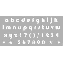 Marabu Malvorlage Schablone 31,5 x 66 cm Alphabet Small Letters
