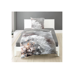 Bettwäsche Pusteblume, BIERBAUM, mit einer Pusteblume grau 1 St. x 135 cm x 200 cm